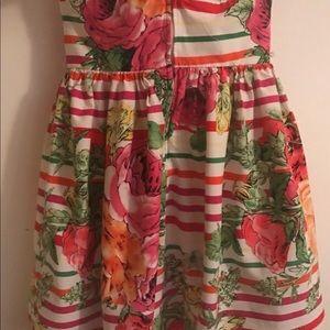 B Darlin Stripes and Floral Dress